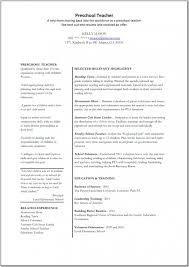 the most elegant resume for preschool teachers resume format web