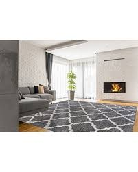 Solid Color Area Rug Great Deals On Gertmenian True Shags Platinum Label Geometric Gray