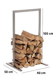 firewood rack sidone stainless steel log basket stand holder fire