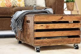 Wood Storage Ottoman Crates Become A Diy Storage Ottoman