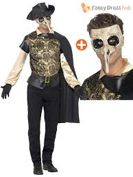 mens plague doctor costume mask venetian masquerade halloween