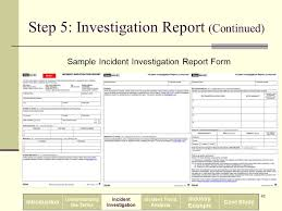 Incident Investigation Report Template by Incident Investigation And Reporting Ppt