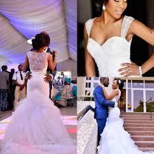 Cheap Online Wedding Dresses 2016 New Nigerian Wedding Dresses Sheer Straps Sequins Mermaid