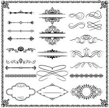ornamental borders elements 16 ai format free vector