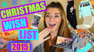 christmas wish list 2015 teen gift guide youtube