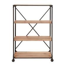 distressed wood open bookcase 34853 the home depot