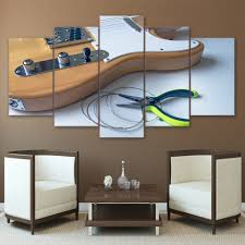 online get cheap wooden poster frame aliexpress com alibaba group modular picture wall art home decor 5 panel wooden guitar string posters frame living room hd