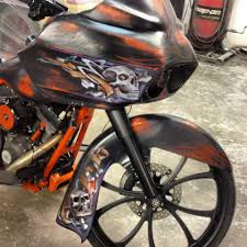 custom motorcycle painting for harleys and baggers in dallas tx by