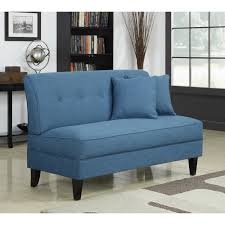 furniture amazing armless loveseat design ideas with grey color