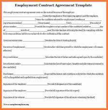 4 employee contract template marital settlements information