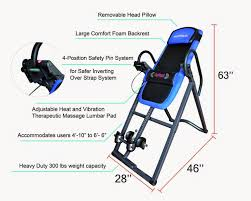 inversion table 500 lbs capacity health and fitness den innova itm4800 advanced heat and massage