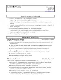 sample resume for administrative assistant skills functional