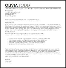 designing a cover letter freelance graphic designer cover letter sle livecareer