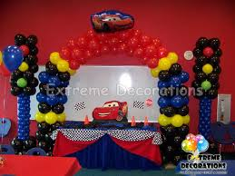 Table Decorating Balloons Ideas Cars Cake Table Decoration Balloon Decoration Miami Diana