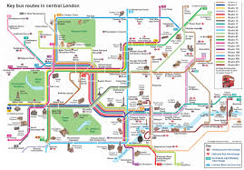 Metro Bus Routes Map by Central London Key Bus Routes U2022 Mapsof Net