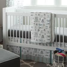 Boy Owl Crib Bedding Sets Sophistication With Grey Crib Bedding Lostcoastshuttle Bedding Set