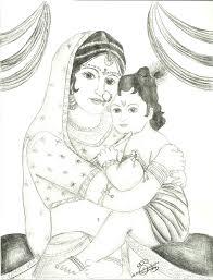 krishna u2013 pencil drawing silent chakra