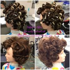 wetset hair styles pin curls and wet set with sebastian texturizer styling services