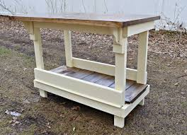 Kitchen Island Work Table by Heir And Space An Antique Work Bench Turned Kitchen Island