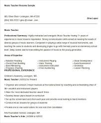 Music Resume Example by Free Teacher Resume 40 Free Word Pdf Documents Download Free
