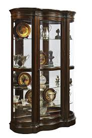 Kitchen Cabinet With Hutch Curio Cabinet Hardwood Corner Curio Cabinet With Enclosed Base