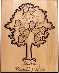 family wood woodburned family tree favecrafts