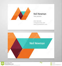 modern letter n business card template stock vector image 52503886