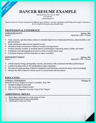 Job Gym Resume by Ballet Resume Sample Resume For Your Job Application