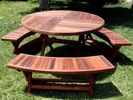 Kids Wooden Picnic Table The Most Awesome Round Wood Picnic Table Contemporary Csublogs Com