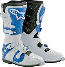 off road riding boots alpinestars tech 8 light offroad motorcycle boot white blue