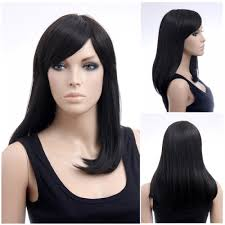 asian woman s wig dark long straight japanese fashion hairstyle
