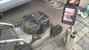how to change oil on a lawn mower briggs and stratton honda