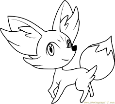 pokemon coloring pages images fennekin pokemon coloring page free pokémon coloring pages