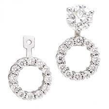 diamond earring jackets 14kt diamond earring jackets halo setting diamond studs sold