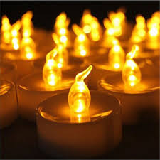 fake tea light candles 24pcs small plastic wholesale flameless candle with timer electric