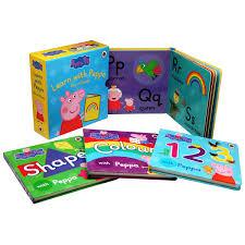 peppa pig learn peppa box books 4 book boxset bms