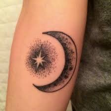 15 best shooting star and crescent moon tribal tattoo images on