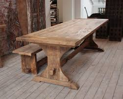 Big Wood Dining Table Furniture Vintage Wooden Dining Table Designed With Restle And