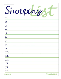 Grocery Shopping List Template Blank Grocery List Clip Art