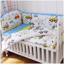 Crib Bedding Set With Bumper Promotion 6pcs Appliqued Baby Cot Crib Bedding Set Bumpers