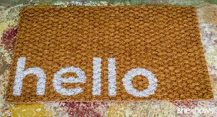 this diy welcome mat is a sweet makeover for any doorstep