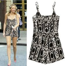 white jumpsuits and rompers for sale fashion black geometric pattern high waist sleeveless