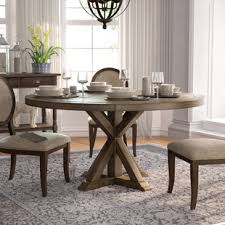 round wood table with leaf 54 inch round dining table wayfair