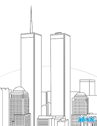 twin towers coloring pages hellokids com