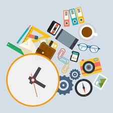 horaires de bureau infographics de vecteur l horaire de travail au bureau