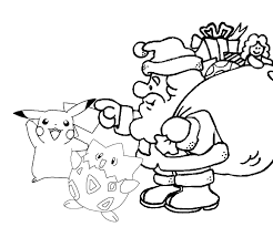pokemon christmas coloring pages 8 olegandreev me