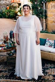 tenue de mariage grande taille yael robe de mariée retro grande taille sur mesure à lyon