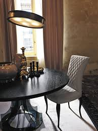 Glass Round Dining Room Table by Contemporary Table Glass Round Coco Fiam Italia