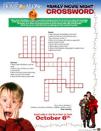 easy crossword puzzles about movies your child to the home alone movies
