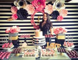 30th birthday party ideas black white pink and a golden birthday my awesome 30th
